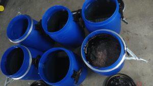 Dewatering of fertilizer